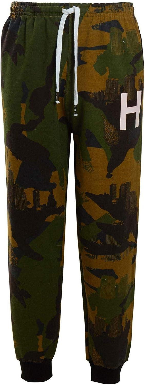 shelikes Mens Boys HNL Camouflage Fleece Army Hooded Hood Joggers Bottom Tracksuit Size