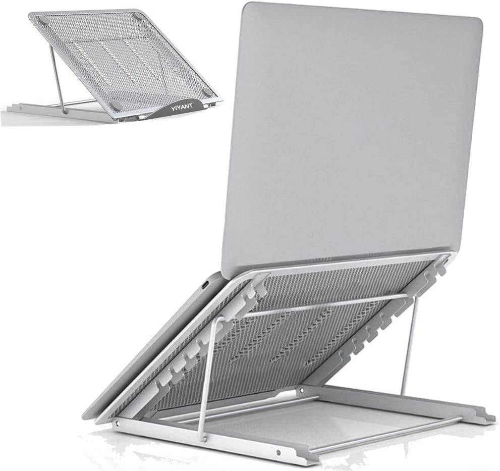 Laptop Tablet Stand, Ventilated Adjustable Laptop Computer Holder Desk Stand, Universal Lightweight Ergonomic Tray Cooling Laptop Stand for All 10-15