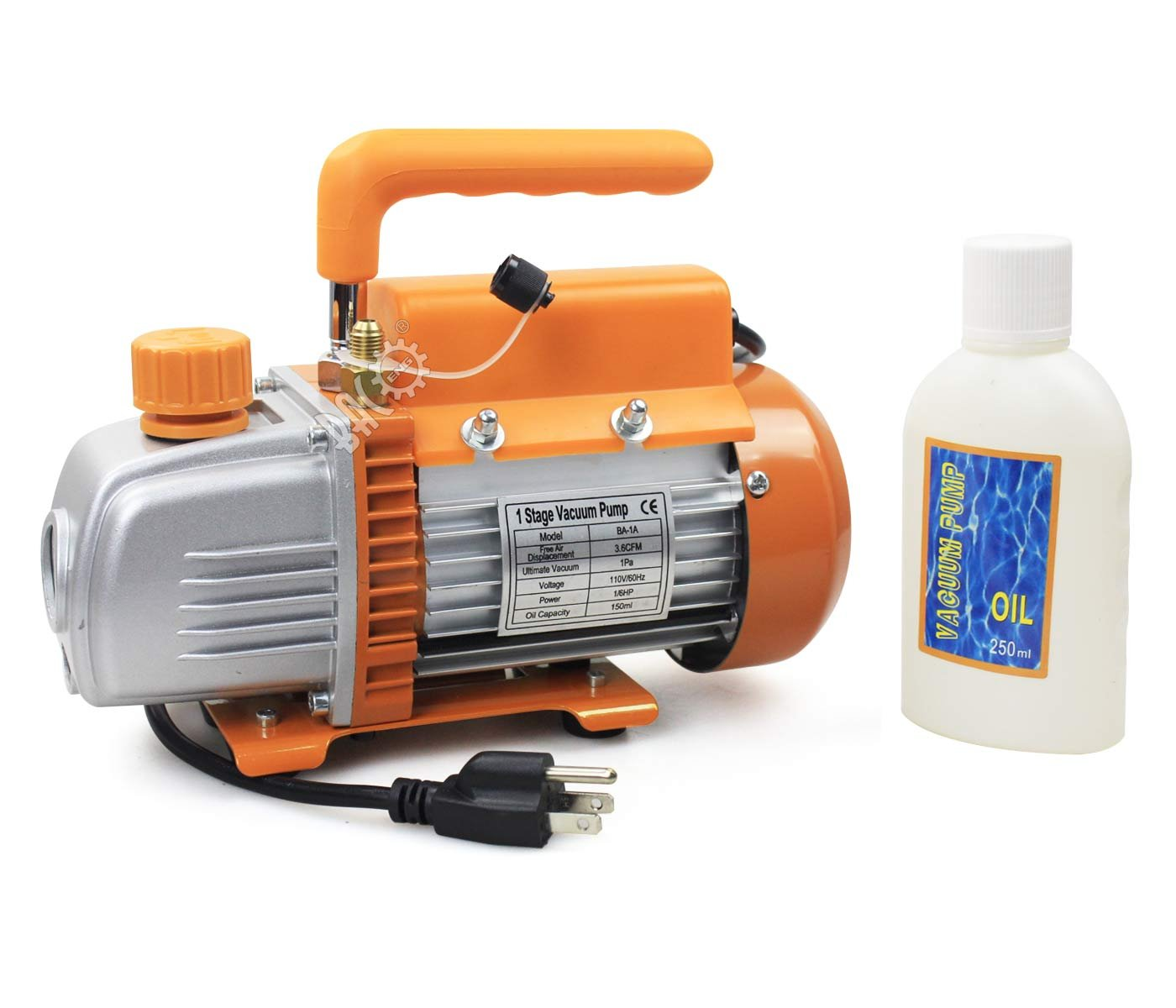 BACOENG Vacuum Pump Standard: 3.6 CFM Single Stage HVAC (Mini/Standard/Advanced/Premium Available) by BACOENG