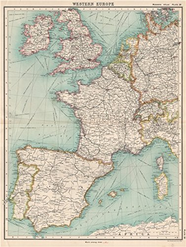 Amazoncom WESTERN EUROPE Protestant Missionary Work Among Jews In - Vintage europe map poster