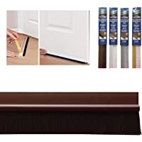 """Bottom Door Seal with Colour Matching Brush in Self Adhesive PVC, 860mm/34"""", Brown"""
