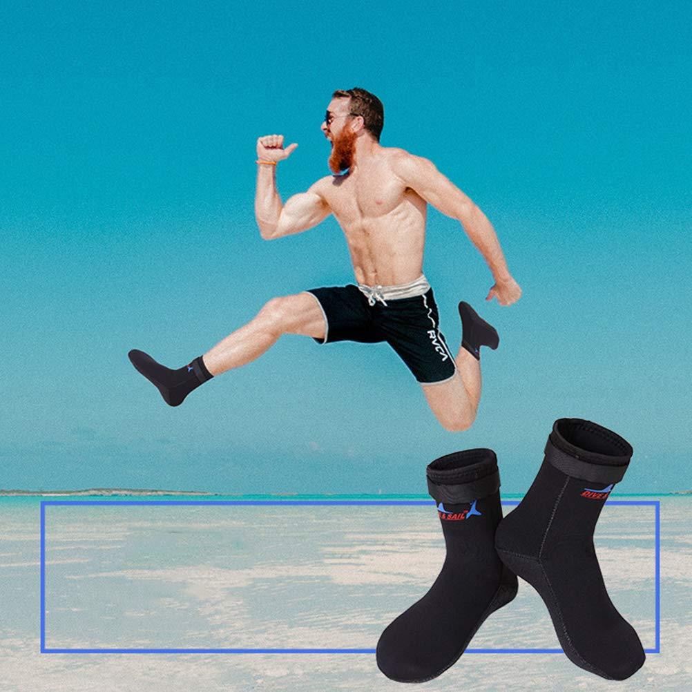 Surf Hacer Snorkel Antideslizantes Yoga Ejercicio Color Negro para Hacer Buceo en la Playa 3 mm Buceo LIOOBO Calcetines de Agua para Nadar o Hacer Snorkel