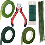 Supla Floral Arrangement Kit Floral Tools Wire Cutter Stem Wire Floral Wire 26 Gauge and 22 Gauge Wire Green Floral…