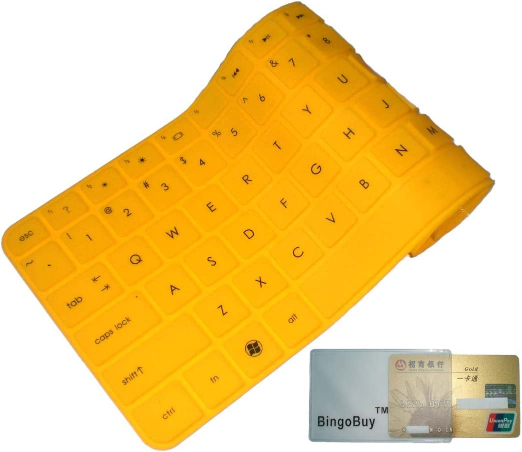 Bank with BingoBuy Card Case for Credit BingoBuy Yellow Silicone Keyboard Protector Skin Cover for Smasung NP365E5C NP550P5C NP300E5E NP355V5C NP350E5C NP355E5C NP350V5C NP270E5G NP270E5E series ID if your enter key looks like 7, our skin cant fit