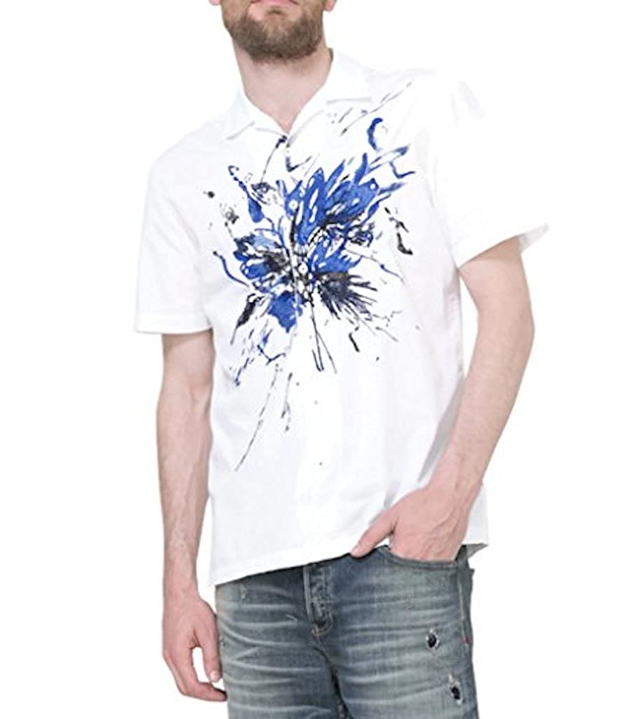 Desigual - Camisa casual - para hombre blanco small: Amazon.es ...