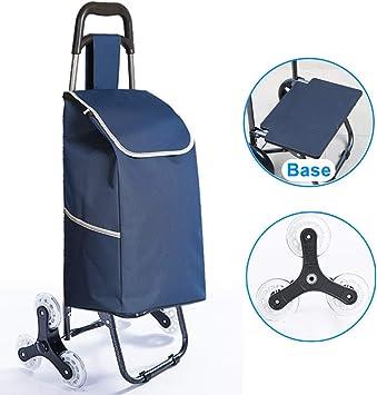 Carro compras plegable Carro utilidad almacenamiento acero para compras, Ruedas giratorias livianas Carro para subir escaleras para lavandería, supermercado, camping y eventos deportivos, Capacidad: Amazon.es: Deportes y aire libre