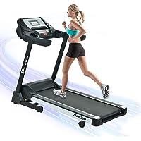 Powermax Fitness Unisex Adult 2HP AC Motor (4hp Peak) Motorized Automatic Treadmill For Home Use - Black, Medium