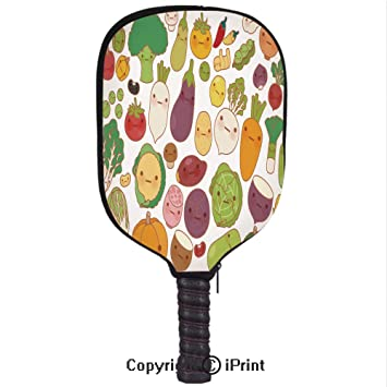 Amazon.com : 3D Pickleball Paddle Racket Cover Case with Diving Material, Collection of Lovely Sweet and Dessert Doodle icon(Size:8.23