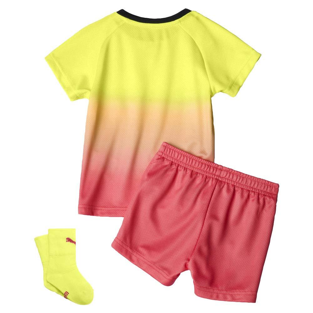 Puma Manchester City 2019//20 Infant Kids Baby Third Football Kit Yellow