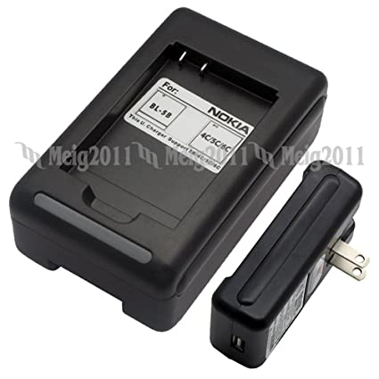 Battery Charger for NOKIA BL-5C Asha 205 203 202, 1680 2323 2330 2700 2730  3109 3110 Classic, 3110 Evolve, 3610 Fold, 5130 XpressMusic, 114 110 X2-01