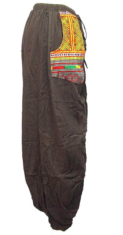 Women's Pocket-Side Drop-Crotch Skirt-Like Pants