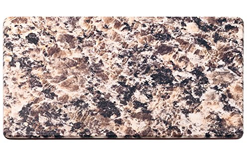 HemingWeigh Premium Anti-Fatigue Designer Comfort Kitchen Floor Mat, 30 x 17, 1/2 thick ergo-foam core for health and wellbeing (Granite)