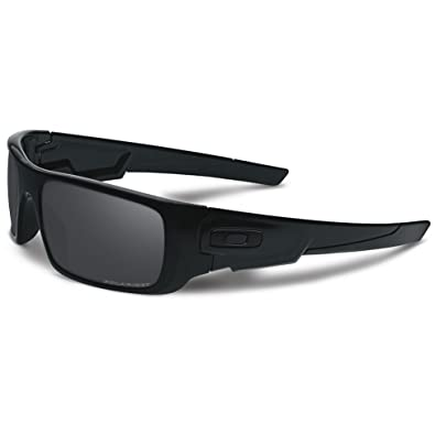 7f9cbd1f30 Image Unavailable. Image not available for. Color  Oakley Crankshaft  Polarized Sunglasses-Matte Black Black Iridium