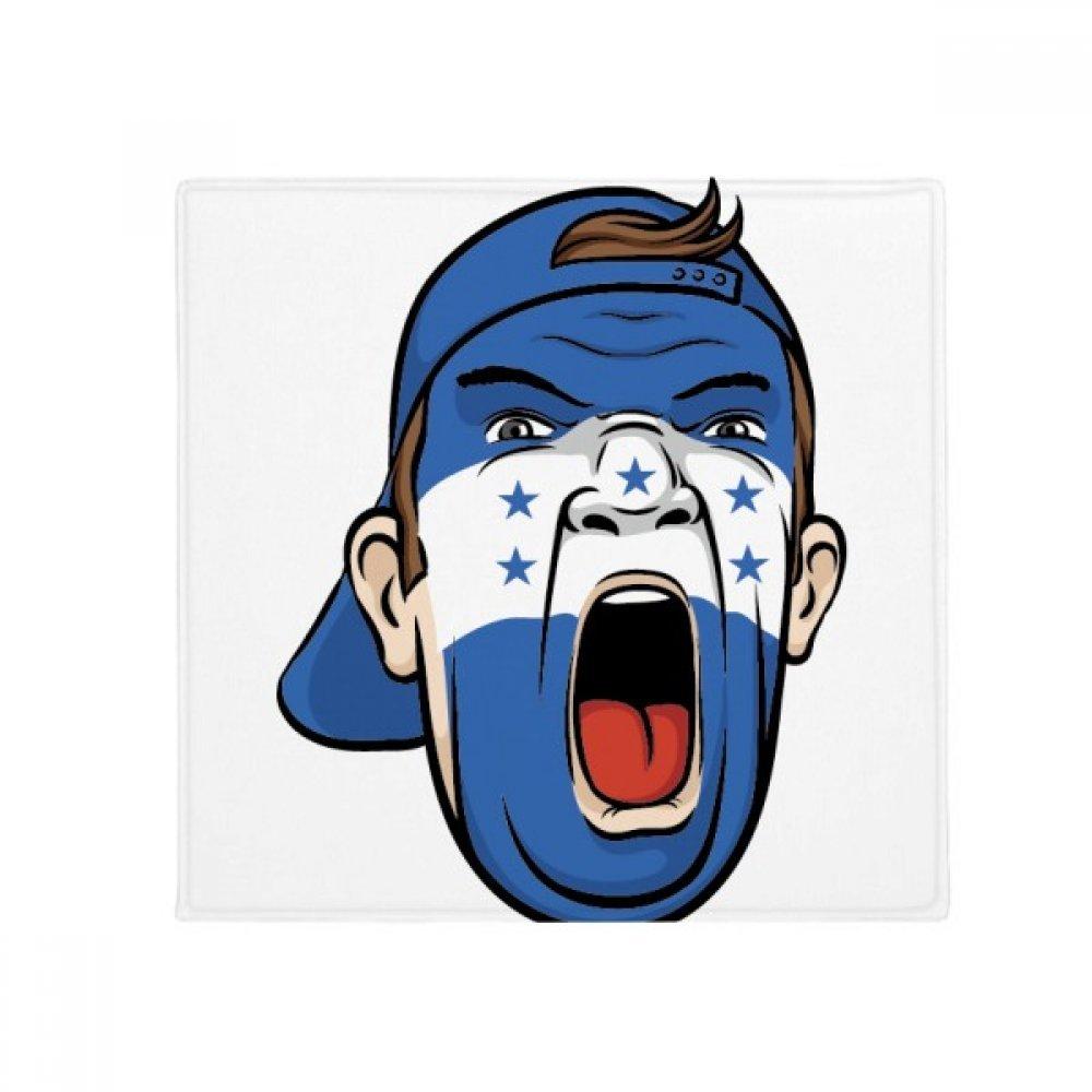 DIYthinker Honduras Flag Facial Makeup Mask Screaming Cap Anti-Slip Floor Pet Mat Square Home Kitchen Door 80Cm Gift