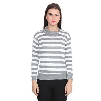 Teemoods Women's Cotton Blend Full Sleeves Striped Top Women's Tops