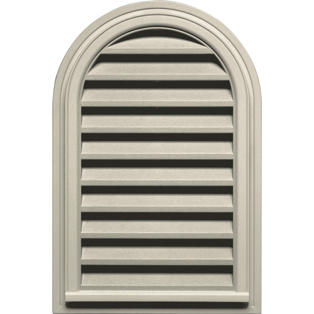 Builders Edge 120082232089 22'' x 32'' Round Vent Top 089, Champagne