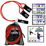 Arm Pro Bands - Resistance Training Bands for Baseball and Softball Arm Strength and Conditioning. Available in 3 Levels (Youth, Advanced, Elite). Anchor Strap, Travel Bag, Digital Training Downloads - Red/Advanced (High School/Travel Teams)