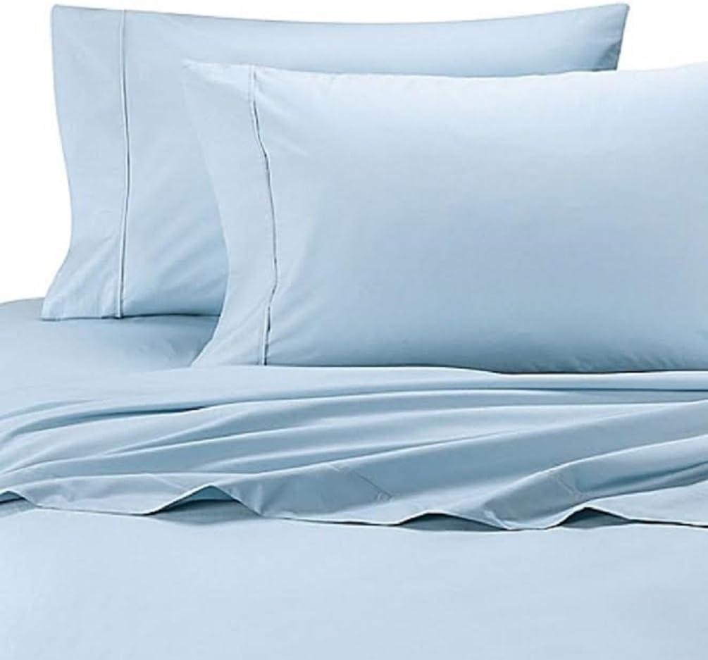 Perfecto percal 100% algodón egipcio sábanas 400 hilos Crisp, fresco y cómodo (cal King, azul): Amazon.es: Hogar
