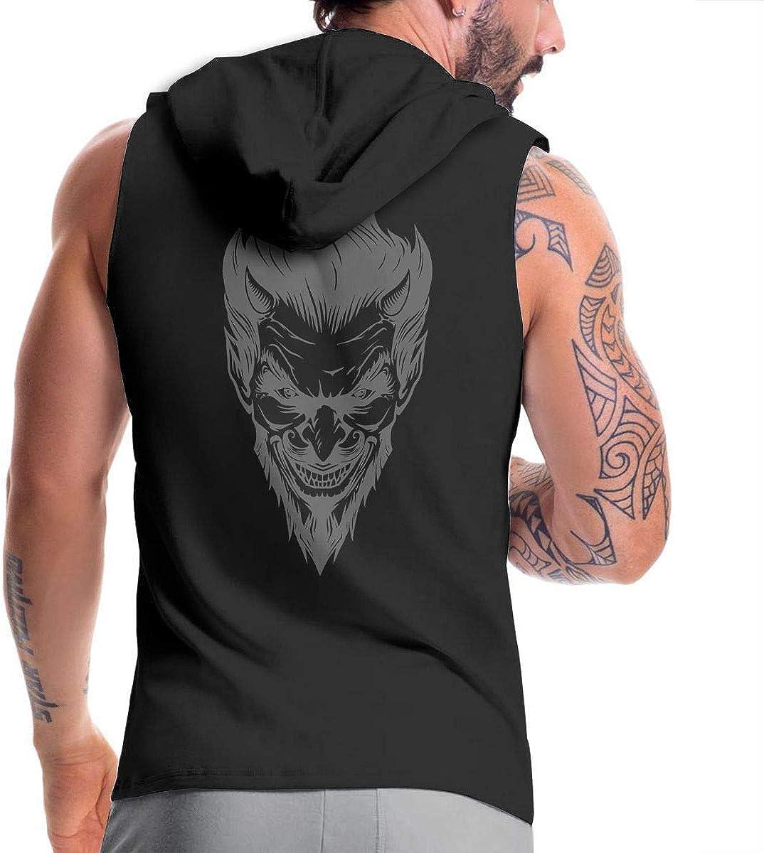 Hengteng Mans Classic with Hood Sack Devil Head Zipper Hoodie