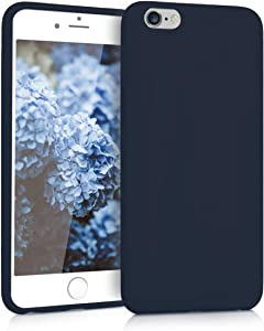 kwmobile TPU Silicone Case Compatible with Apple iPhone 6 Plus / 6S Plus - Soft Flexible Protective Phone Cover - Navy Blue