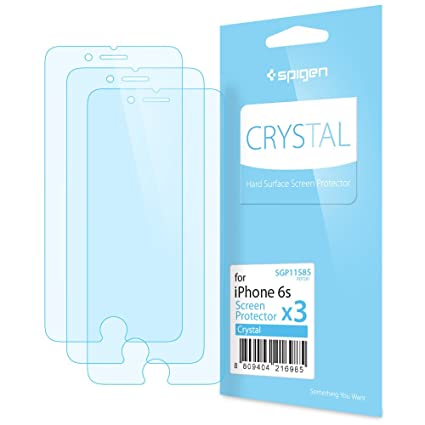 finest selection 91b23 048c2 Spigen Crystal Clear iPhone 6s Screen Protector with Crystal Film 3 Pack  for iPhone 6s / iPhone 6