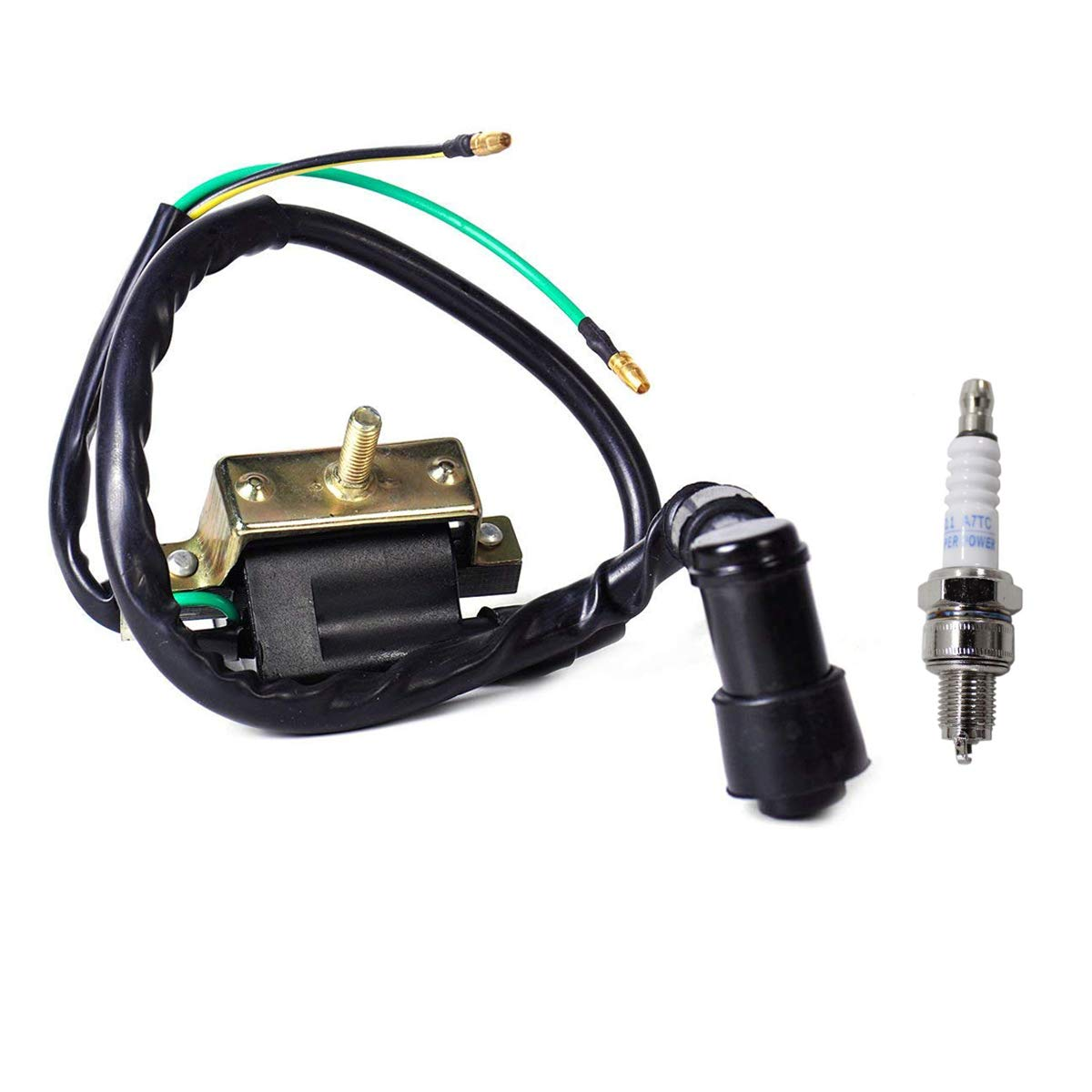 4 Stroke 2 Wire Ignition Coil And Spark Plug A7tc For 50cc 70 Cc Atv Wiring 90cc