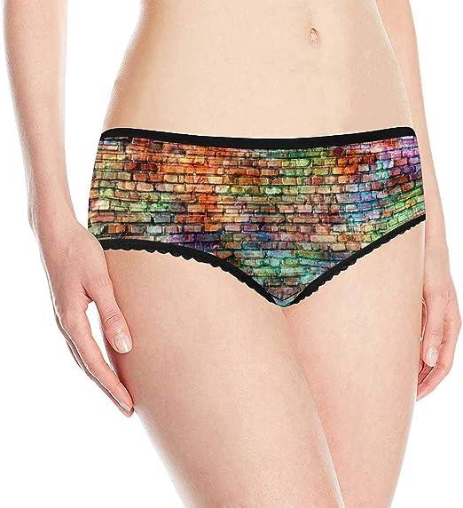 INTERESTPRINT Mens Boxer Briefs Underwear Abstract Retro Pattern XS-3XL