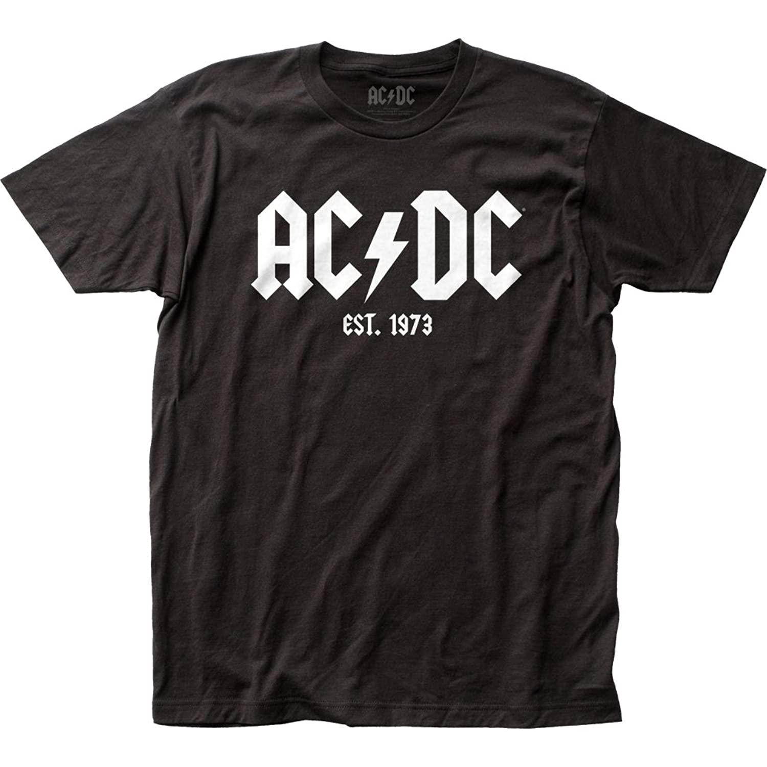 AC/DC Est. 1973 Rock Band Music Group Logo Adult Fitted Jersey T-Shirt Tee