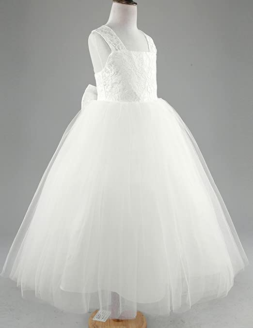 Amazon.com: CHICTRY Big Girls Junior Bridesmaid Lace Floral Party Wedding Ball Gown Flower Girl Tulle Dress: Clothing