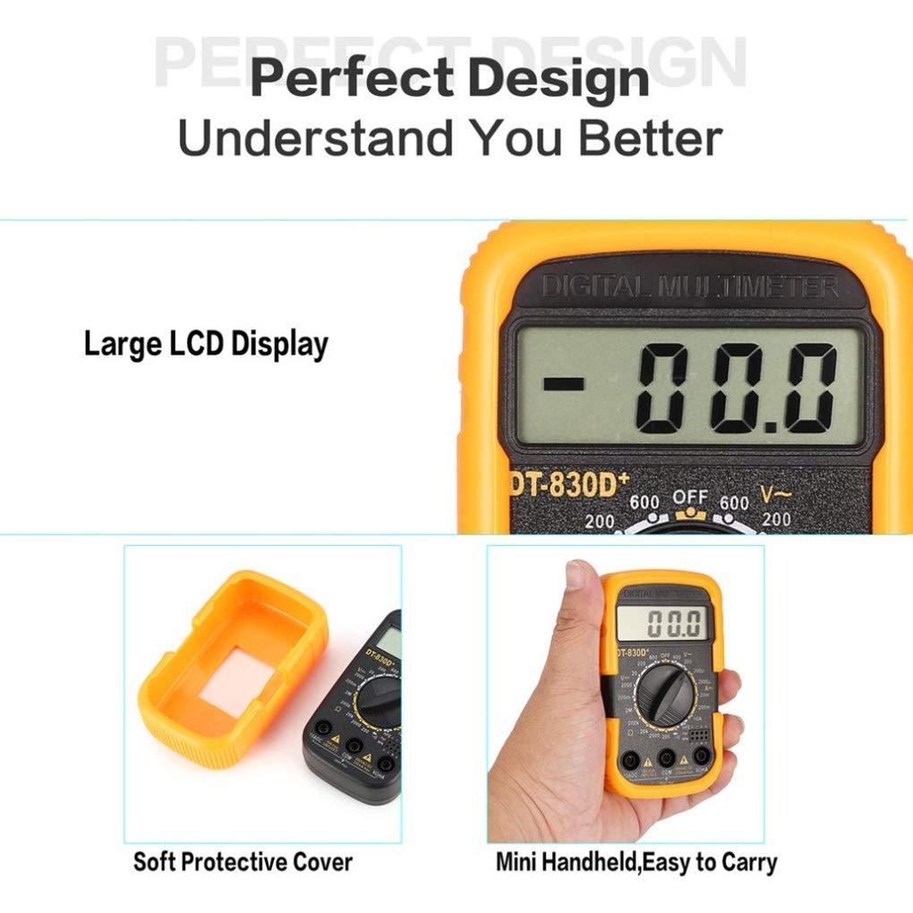 Floridivy DT830D Digital-Multimeter Mini Voltmeter DC Strom Resistance Tester Batterie-bewegliche Voltage Testing Tool Powered