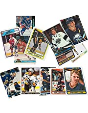 40 Hockey Hall-of-Fame and Superstar Cards Collection Including Mario Lemieux, Wayne Gretzky, Jaromir Jagr, Ray Bourque, Patrick Roy, Mats Sundin, Mark Messier, Steve Yzerman, Teemu Selanne, Brett Hull, Joe Sakic, and Nicklas Lidstrom. Ships in Protective Plastic Case Perfect for Gift Giving.