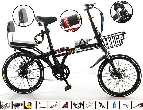 Bove Doble Disco Frenos Amortiguadores Folding Bicicleta Plegable Resistente Y Ligero 20 Inch Bicicleta Montaña Velocidad Variable Sin Herramientas Bicicleta Urbana Unisex: Amazon.es: Deportes y aire libre