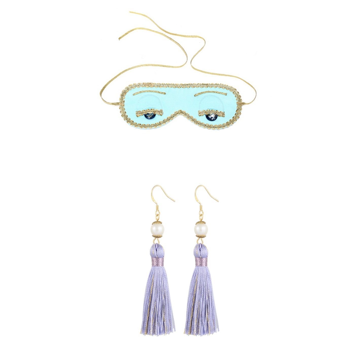 Gift Boxed Audrey Hepburn Sleep Mask Earrings Set Breakfast at Tiffany's Holly Golightly Halloween Party Costume