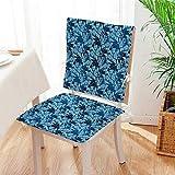 Mikihome Seat Set Cushion Classic Petals Style Elegance Florets 2 Piece Classic Decorative Chair pad Mat:W17 x H17/Backrest:W17 x H36