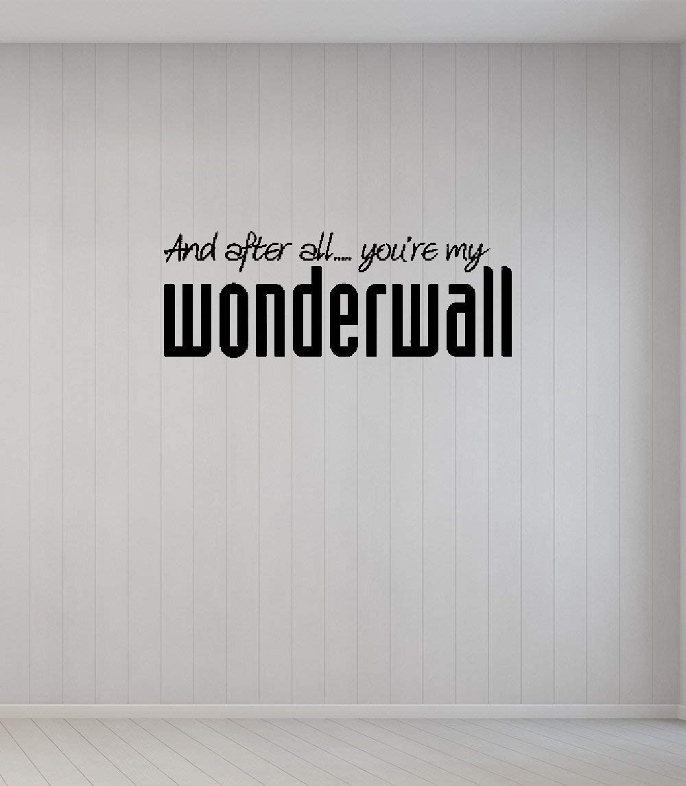 Diuangfoong Vinyl Removable Wall Stickers Mural Decal DIY Art and After All?You're My Wonderwall Home Decor