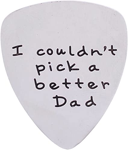 Fathers Day Gift Metal I Couldn/'T Pick A Better Dad Guitar Pick Keychain AG