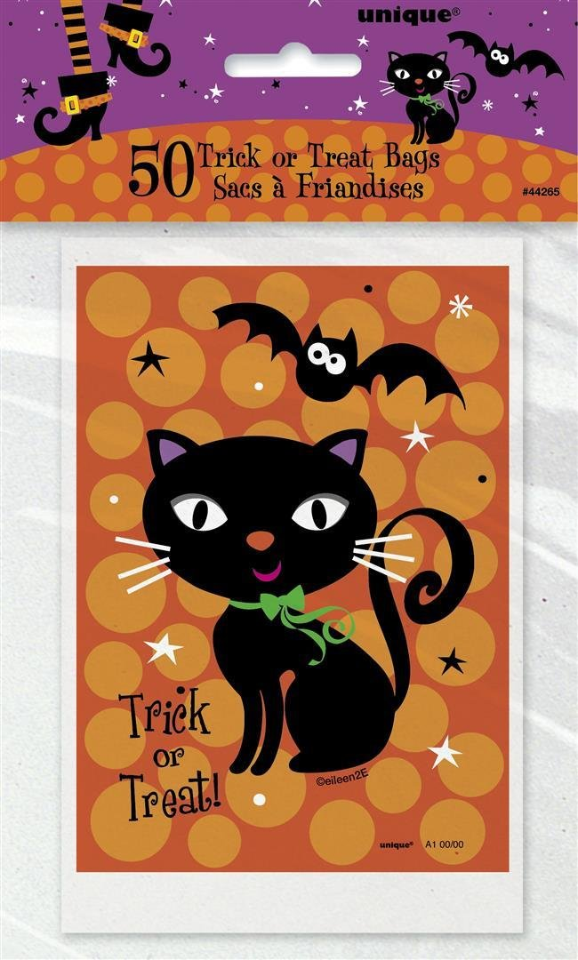 Spooky Boots Halloween Treat Bags, 50ct