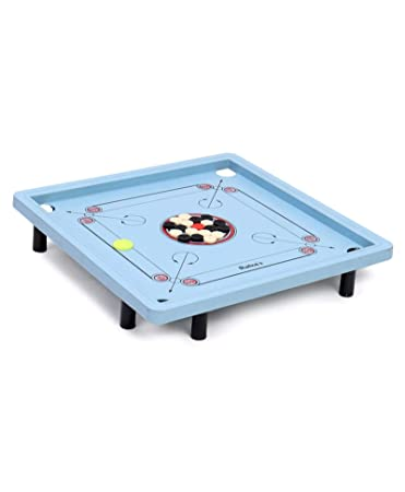 RATNAS Premium Plastic Champ Carrom with Stand Plastic for Indoor AS Well AS Outdoor Fun. Foldable Stand(Multicolour)