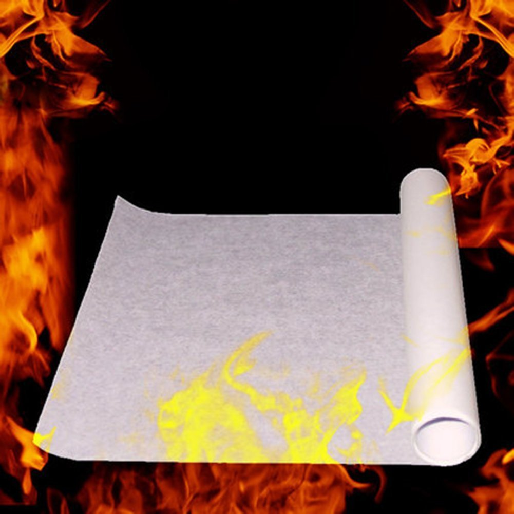 Saully 10PCS Magic Stage Props Fire Flame to Rose Paper 20X25cm