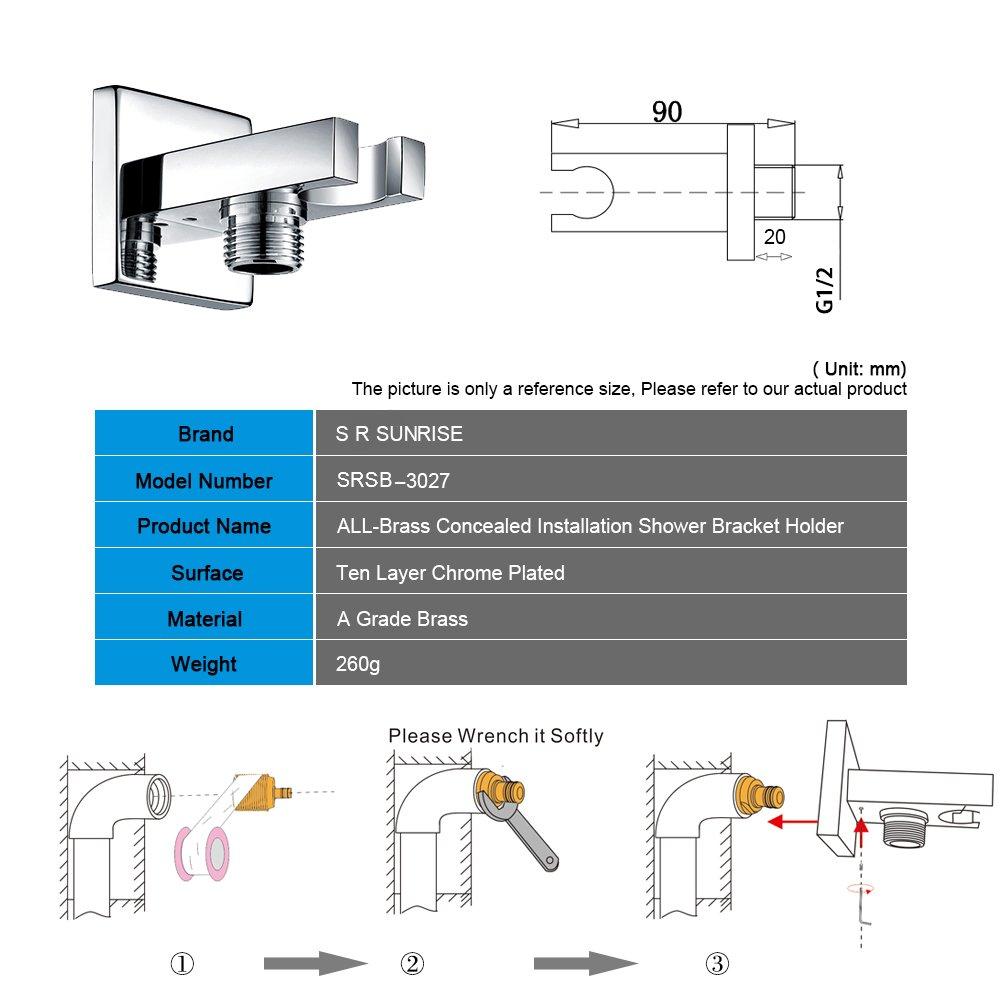 S R SUNRISE Tubo per doccia in acciaio inossidabile doppia aggraffatura Lunghezza 1.5M cromato SRSH003