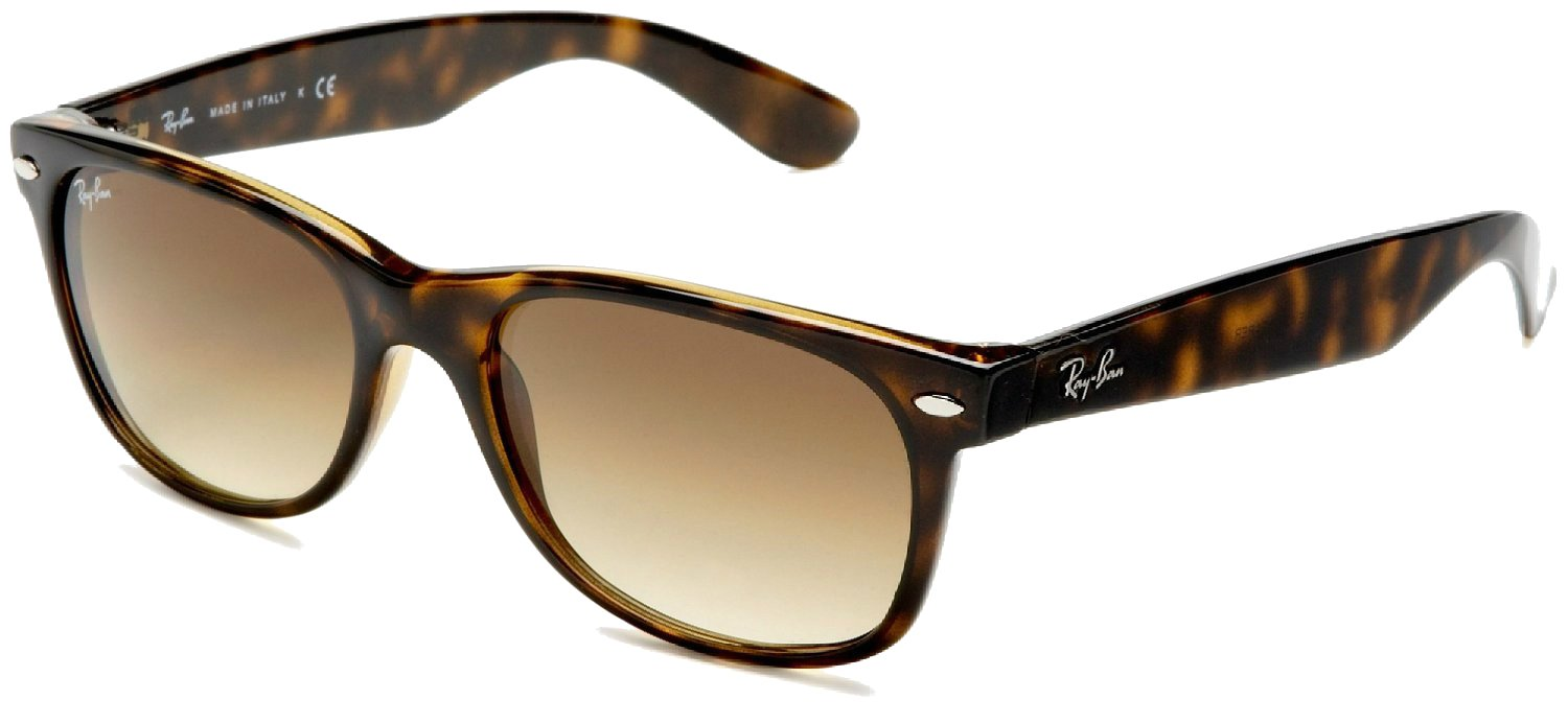 Ray-Ban Havana Brown Grad Wayfarers RB 2132 710/51 55mm + SD Gift + Cleaning Kit