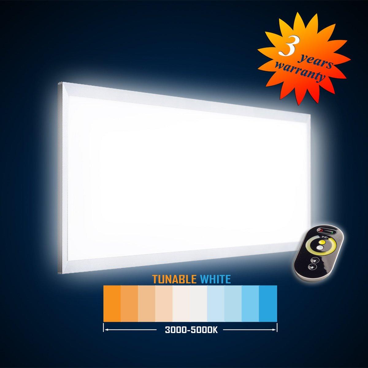 bianco Tunable 1195 x 595 54 W 2700 /– 6000 K Mextronic S Pannello a LED da parete