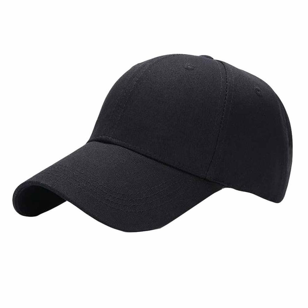Pure Baseball Caps,Hemlock Snapback Hats Hip-Hop Adjustable Fishing Hat Sun Cap Adjustable Beach Hats (Black)