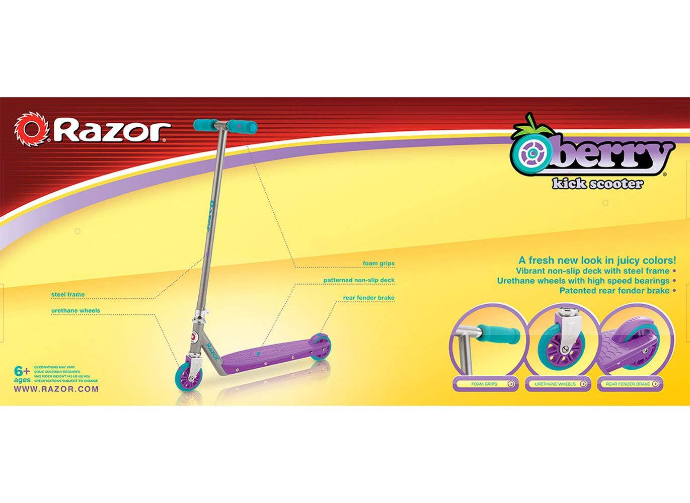 Amazon.com: Razor Berry Kick – Patinete, color morado/azul ...