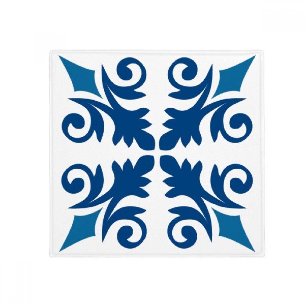 DIYthinker Mgoldcco Decorative Flower bluee Pattern Anti-Slip Floor Pet Mat Square Home Kitchen Door 80Cm Gift