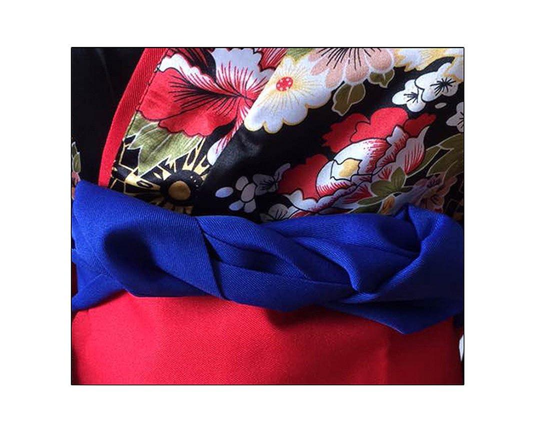 NSPSTT Giapponese Kimono Lungo Floreale Pigiama Donna Vestito Vestaglia Raso Cosplay del Costume