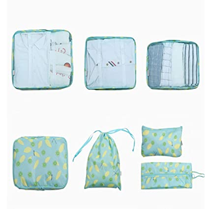 8c8bf7ca2a7b Amazon.com: Sarazong Packing Cubes,Set of 7 Luggage Organisers ...