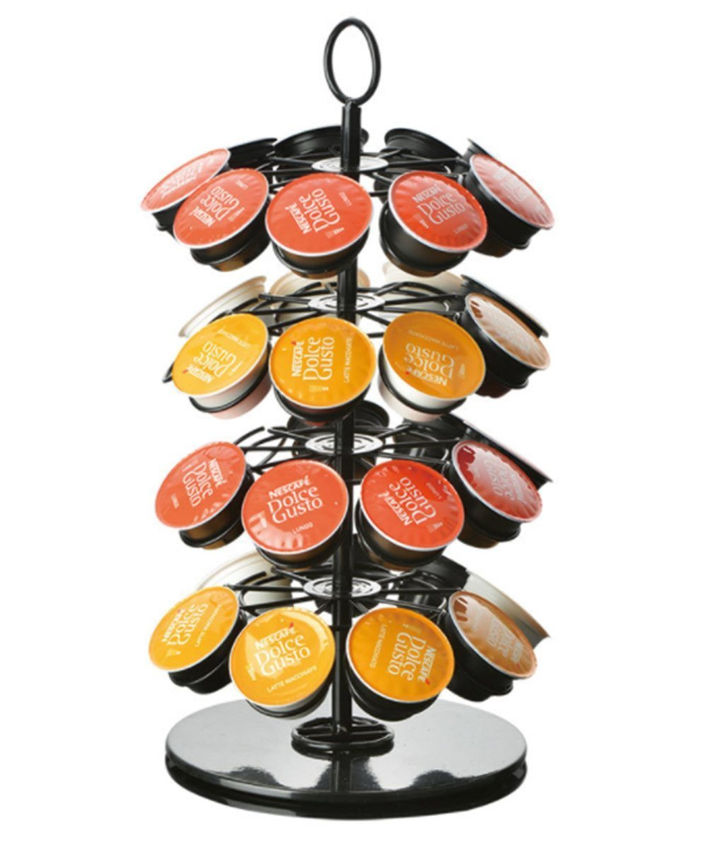 Ranaphil Coffee Storage Carousel For K-Cup Pods Capsule Holder 36 Pod Capacity In Black