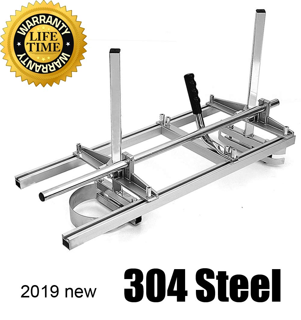 chainsaw mill Portable Chainsaw mill 36'' Inch 304 stainless steel and Aluminum Planking Milling Bar Size Cutting Milling