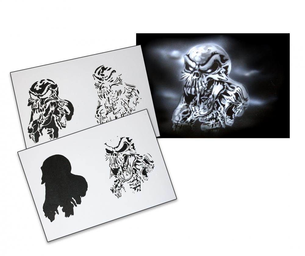 UMR-Design AS-092 Skull Pochoir pour A/érographe Step by Step Size S